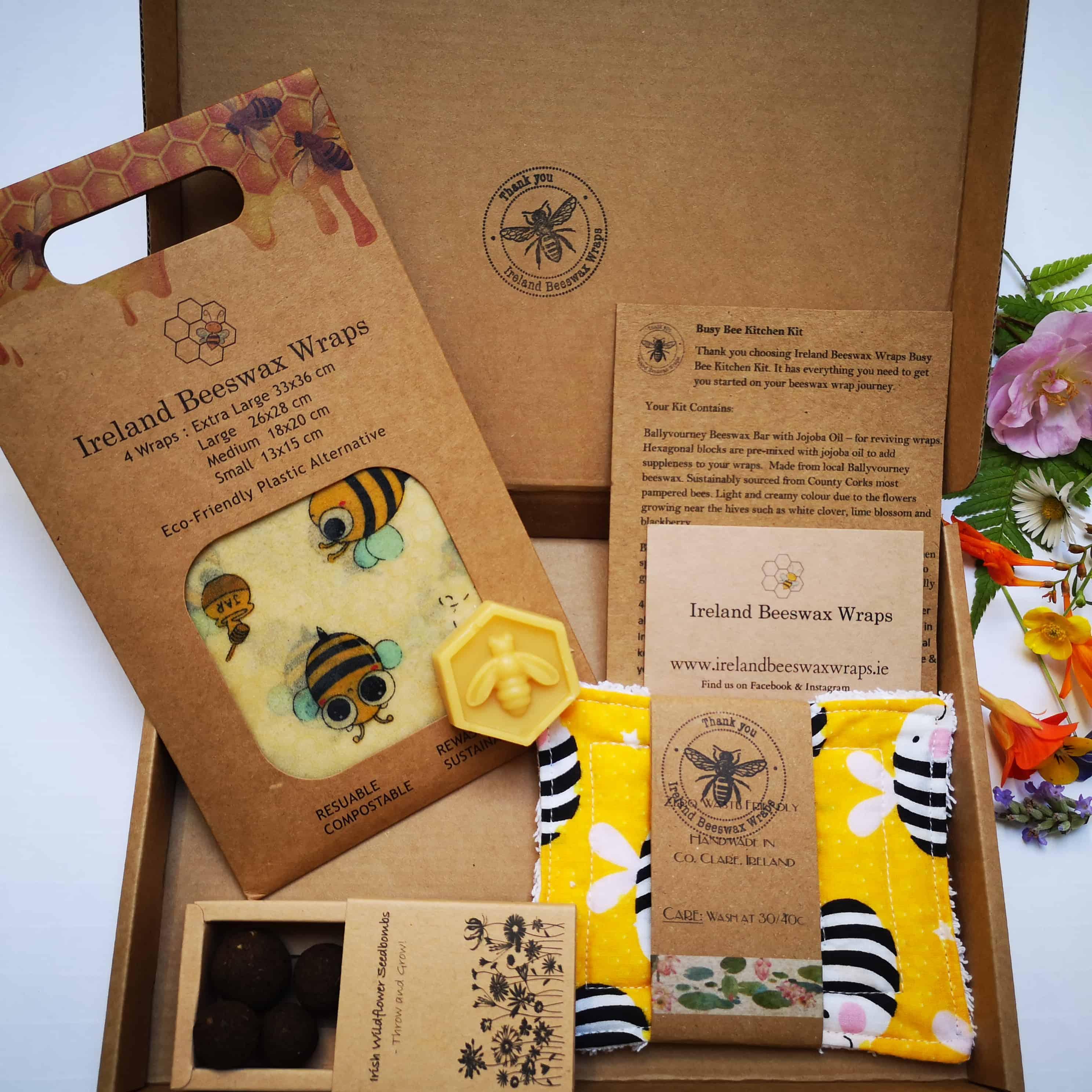 Busy Bee Kitchen Kit Ireland Beeswax Wraps